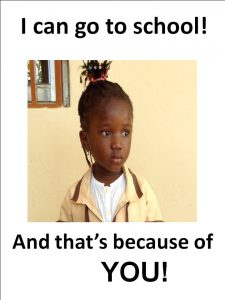 Afrikaya child sponsorship advert
